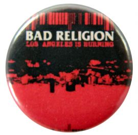 Bad Religion - 'Los Angeles is Burning' Button Badge